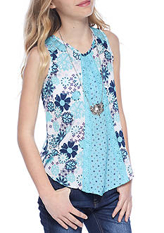 Belle du Jour Pattern Mixing Tank Girls 7-16