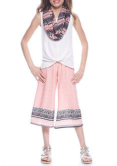 Belle du Jour Tank and Printed Gaucho Set Girls 7-16