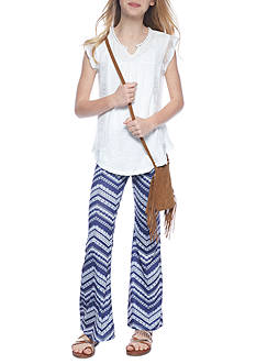 Belle du Jour 4-Piece Top, Flare Leggings, Purse and Headband Set Girls 7-16