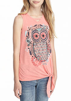 Belle du Jour Owl Graphic Tank Girls 7-16