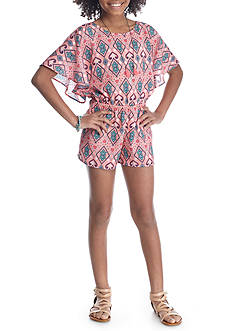 Belle du Jour Printed Romper Girls 7-16