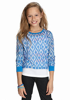 Red Camel® Chiffon Printed 2Fer Top Girls 7-16