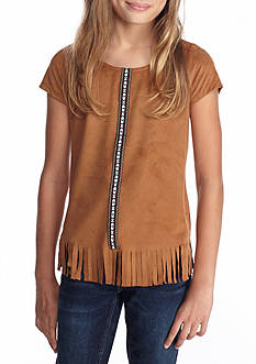 Red Camel® Suede Fringe Top Girls 7-16