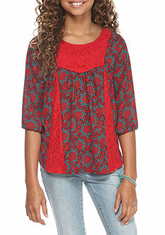 Red Camel® Woven Printed Top Girls 7-16