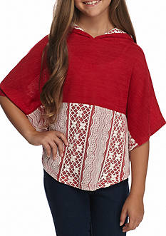 Red Camel Hooded Poncho Girls 7-16