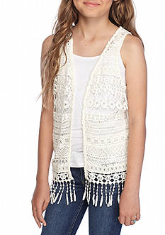 Red Camel® Crochet Vest Girls 7-16