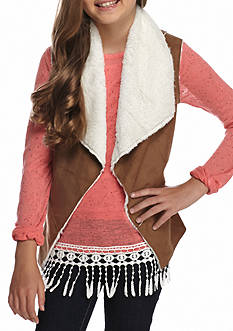 Red Camel® Faux Suede Vest Girls 7-16