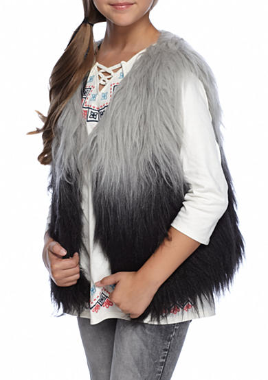 Red Camel Girls® Black/White Ombre Vest 7-16