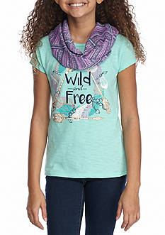 Red Camel 'Wild and Free' Screen Scarf Tee Girls 7-16