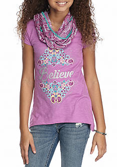 Red Camel 'Believe' Screen Scarf Tee Girls 7-16