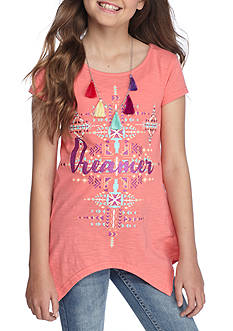Red Camel 'Dreamer' Sharkbite Tee Girls 7-16