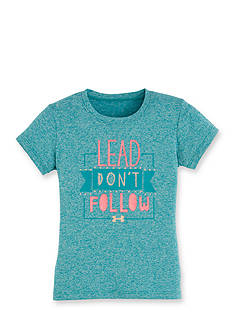 Under Armour® 'Lead Don't Follow' Tee Girls 4-6x
