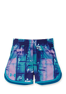Under Armour® Paint Plaid Essential Shorts Girls 4-6x