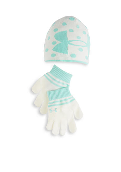 Under Armour® Knit Beanie And Glove Combo Girls 4-6x