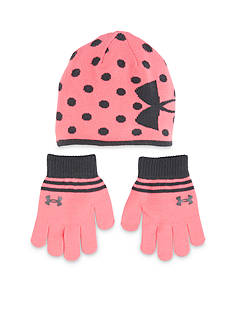 Under Armour Knit Beanie And Glove Combo Girls 4-6x