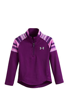 Under Armour Blurred Stripe 1/4 Zip Tee Girls 4-6x