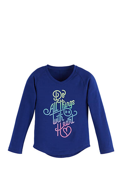 Under Armour® Do Things With Heart Tee Girls 4-6x