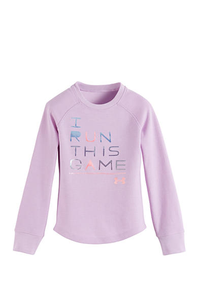 Under Armour® I Run This Game Waffle Tee Girls 4-6x