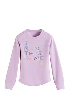 Under Armour I Run This Game Waffle Tee Girls 4-6x