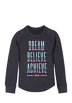 Under Armour® 'Dream, Believe, Achieve' Long Sleeve Top Girls 4-6x
