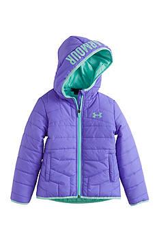Under Armour Violet Puffer Jacket Girls 4-6x
