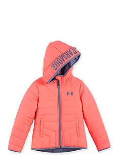 Under Armour Pink Puffer Jacket Girls 4-6x