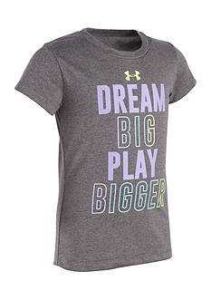 Under Armour® 'Dream Big Play Bigger' Tee Girls 4-6x