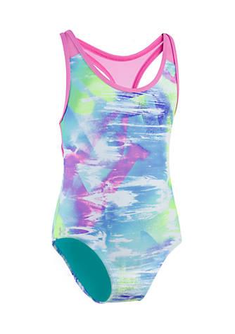 Under Armour Dusty 1 Piece Swimsuit Girls 7 16 Belk