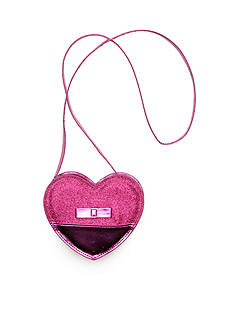 Capelli New York Glitter Heart Crossbody Bag
