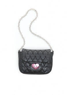Capelli New York Heart Quilted Shoulder Bag
