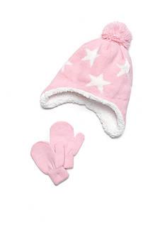 Capelli New York 2-Piece Star Hat and Mitten Set Toddler Girls
