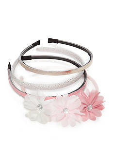 Capelli New York 4-Pack Metallic and Flower Headbands