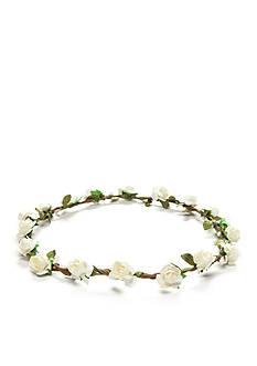 Capelli New York Flower Garland Headwrap