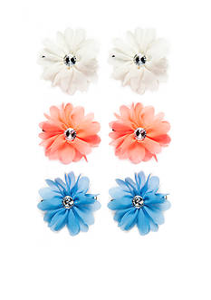 Capelli New York Floral Chiffon Clips 6-Pack