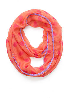 Capelli New York Heart Printed Loop Scarf
