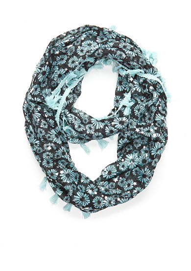 Capelli New York Dainty Daisy with Foil Printed Stars Loop Scarf