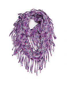 Capelli New York Open Knit Spacedye Fringe Loop Scarf