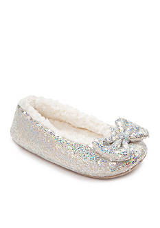 Capelli New York Girls' Sequin Ballet Slippers With Bow