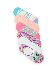 Capelli New York 6-Pack Floral Crown Kitty Sock Set