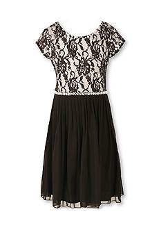 Speechless Lace to Chiffon Dress Girls 7-16 Plus