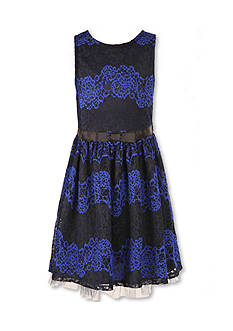 Speechless Navy Lace Sleeveless Party Dress