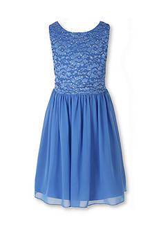 Speechless Lace Chiffon Dress Girls 7-16 Plus