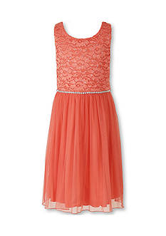 Speechless Lace Chiffon Dress Girls 7-16 Plus