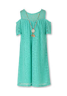 Speechless Cold Shoulder Lace Dress Girls 7-16 Plus