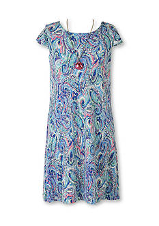 Speechless Paisley Pleated Dress Girls 7-16