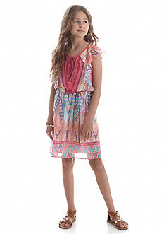 Speechless Printed Rope Belted Dress Girls 7-16