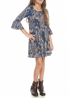 Speechless Yummy Print Bell Sleeved Babydoll Dress Girls 7-16