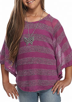 Speechless Striped Circle Top Girls 7-16