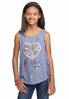 Speechless Heart Dream Catcher Fringe Tank Top Girls 7-16