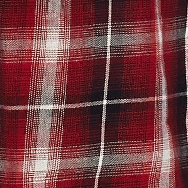 Girls Long Sleeve Shirts: Red Speechless Plaid Circle Top Girls 7-16